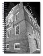 Boston Old State House Boston Ma Angle Black And White Spiral Notebook