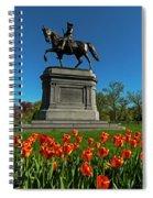 Boston Public Garden Tulips Boston Ma Spiral Notebook