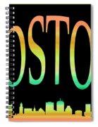 Boston Skyline 10 Spiral Notebook