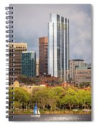 Boston Skyline Skyscraper Boston Ma Charles River Spiral Notebook