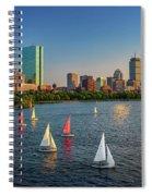 Boston Skyline Summer 2018 Spiral Notebook