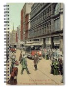 Boston: Washington Street Spiral Notebook