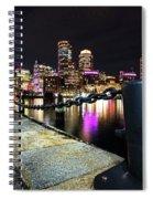 Boston Waterfront Skyline View Boston Ma Spiral Notebook