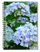 Botanical Art Prints Floral Hydrangea Flower Garden Baslee Spiral Notebook