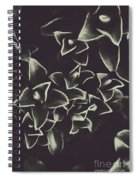 Botanical Blooms In Darkness Spiral Notebook