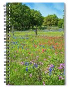 Botanical Variety Show In The Texas Hill Country Spiral Notebook