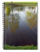 Grass On Both Sides With Water Between Spiral Notebook
