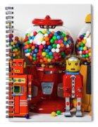 Bots And Bubblegum Machines Spiral Notebook
