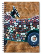 Bottle Cap Buggy Spiral Notebook