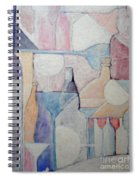 Bottles And Glasses Spiral Notebook