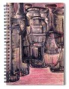 Bottles In Red Spiral Notebook