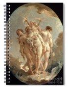 Boucher: Three Graces, 18 C Spiral Notebook