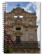 Sunlit Pink Bougainvillea At Santa Lucia Alla Badia Church In Syracuse Sicily Spiral Notebook