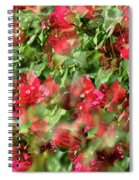 Bougainvillea Repeating Pattern Abstract I Spiral Notebook