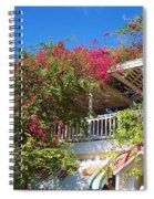 Bougainvillea Villa Spiral Notebook