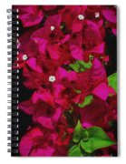 Bougainvillea / Textured  Spiral Notebook