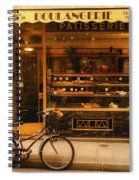 Boulangerie And Bike Spiral Notebook