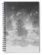Boulder Canyon And Nederland Winter Landscape Spiral Notebook