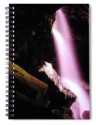 Boulder Cave Falls From The Side  Spiral Notebook