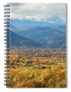 Boulder Colorado Autumn Scenic View Spiral Notebook