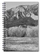 Boulder Colorado Flatiron View From Jay Rd Bw Spiral Notebook