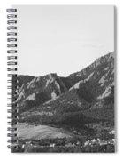 Boulder Colorado Flatirons And Cu Campus Panorama Bw Spiral Notebook