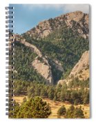 Boulder Colorado Rocky Mountain Foothills Spiral Notebook
