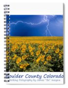 Boulder  County Colorado Spiral Notebook