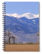 Boulder County Colorado Panorama Spiral Notebook