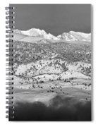 Boulder County Continental Divide Panorama Bw Spiral Notebook