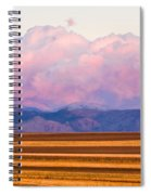 Boulder County Farm Fields At First Light Sunrise Spiral Notebook