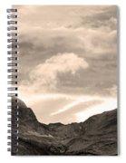 Boulder County Indian Peaks Sepia Image Spiral Notebook