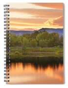 Boulder County Lake Sunset Landscape 06.26.2010 Spiral Notebook