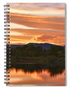 Boulder County Lake Sunset Vertical Image 06.26.2010 Spiral Notebook
