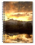 Boulder County Sunset Reflection Spiral Notebook