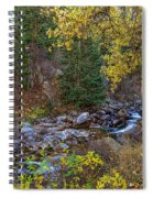 Boulder Creek Autumn View  Spiral Notebook