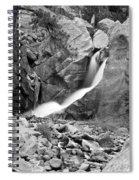 Boulder Falls Black And White   Spiral Notebook