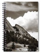 Large Cloud Over Flatirons Spiral Notebook