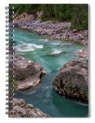 Boulder In The River - Slovenia Spiral Notebook