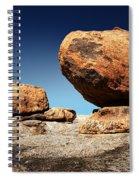 Boulder On Solid Rock Spiral Notebook