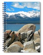 Boulder Shore Lake Tahoe Spiral Notebook