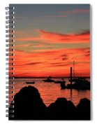 Rock Sunset Silhouette Spiral Notebook