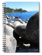 Boulders On Lake Tahoe Spiral Notebook