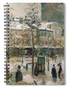 Boulevard De Rocheouart In Snow Spiral Notebook
