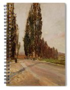 Boulevard Of Poplars Near Plankenberg Spiral Notebook