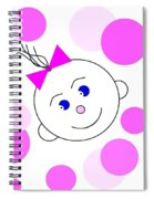Bouncing Baby Girl Spiral Notebook