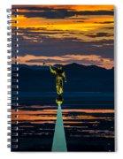 Bountiful Sunset - Moroni Statue - Utah Spiral Notebook