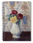 Bouquet De Roses Dans Un Vase 1885 Spiral Notebook