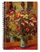 Bouquet In Front Of A Mirror 1877 Spiral Notebook