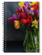 Spring Flowers In Vase Spiral Notebook